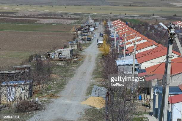 A view of refugee camp between Gori and the South Ossetia Georgia on March 17 2017 Refugee camps around the city of Gori near South Ossetia region...