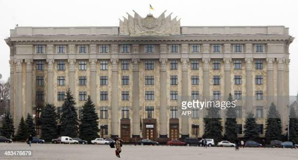 view of regional administration building in eastern Ukrainian city of Kharkiv taken on April 9 2014 The eastern Ukrainian city of Kharkiv on Tuesday...