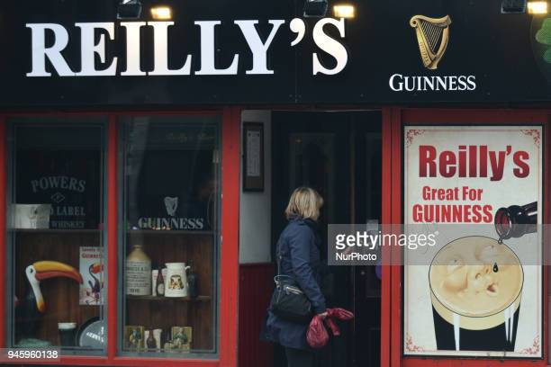A view of Reilly's a traditional Dublin Pub in the city center On Friday April 13 in Dublin Ireland