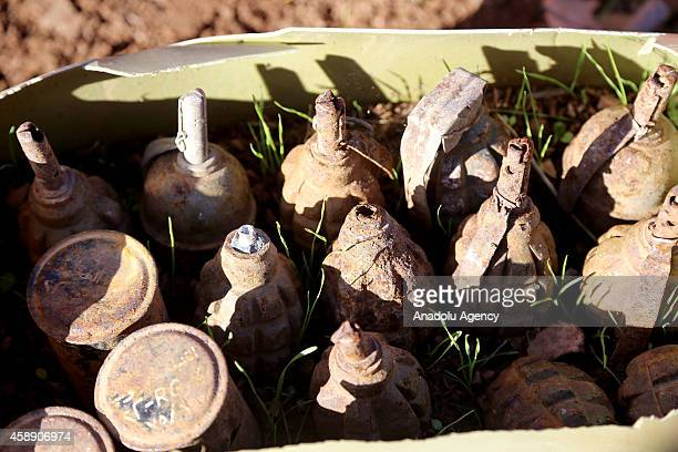 A view of removed land mines laid by Ba'ath Party on the mountainous terrain of Penjwin district near IraqiIranian border crossing in Sulaymaniyah...
