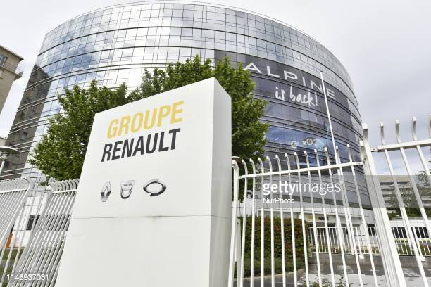 View of Renault headquarter in Boulogne Billancourt, France, on May 29, 2019. - French and Italian-US auto giants Renault and Fiat Chrysler are set...