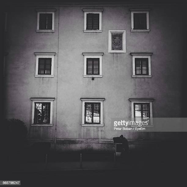 view of residential building window - boban stock pictures, royalty-free photos & images