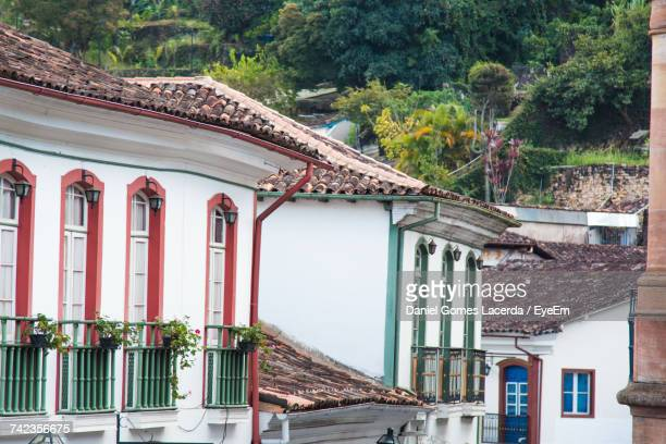 view of residential buildings at ouro preto - preto stock pictures, royalty-free photos & images