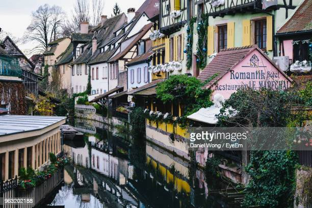view of residential buildings in city - colmar stock photos and pictures