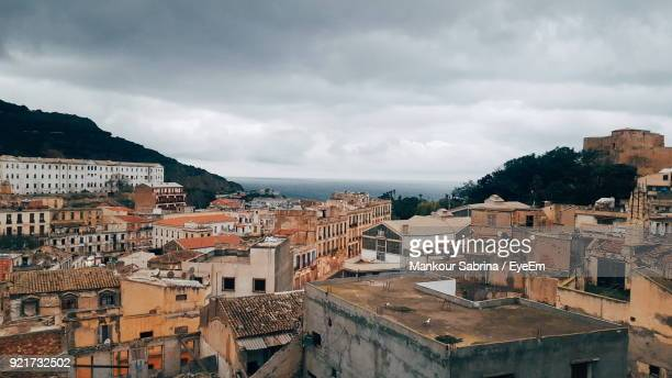 view of residential district against sky - algeria stock pictures, royalty-free photos & images
