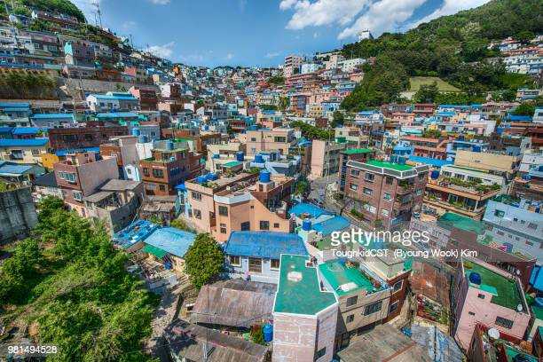 View of residential district, Gamcheon, Busan, South Korea