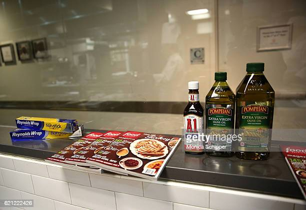 A view of Reynolds Wrap Food Network Magazine Pampeian olive oil and A1 Original Sauce in the kitchen at the Food Network Magazine Cooking School...