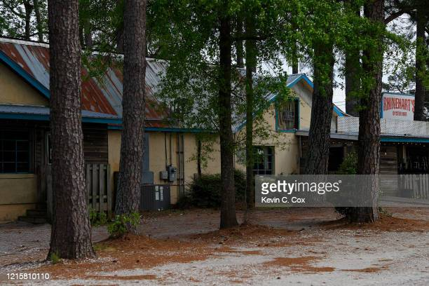 A view of Rhinehart's Oyster Bar on Washington Road on March 30 2020 in Augusta Georgia The Masters Tournament located nearby at Augusta National has...