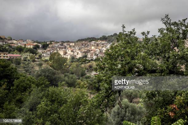 A view of Riace a small town in Calabria in southern Italy famous for welcoming migrants