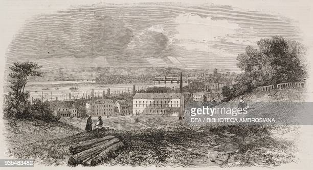 View of Richmond Virginia United States of America from a sketch by G H Andrews illustration from the magazine The Illustrated London News volume XL...