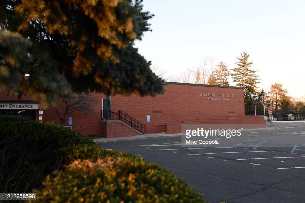 View of Ridgewood High School as the coronavirus continues to spread across the United States on March 15, 2020 in Ridgewood, New Jersey. Bergen...