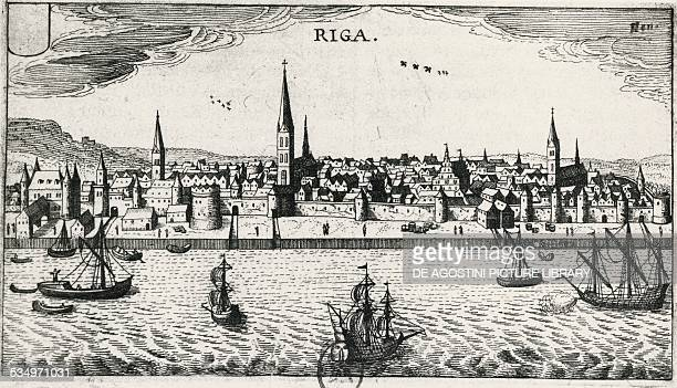 View of Riga engraving Latvia 16th century Paris Bibliothèque Nationale De France