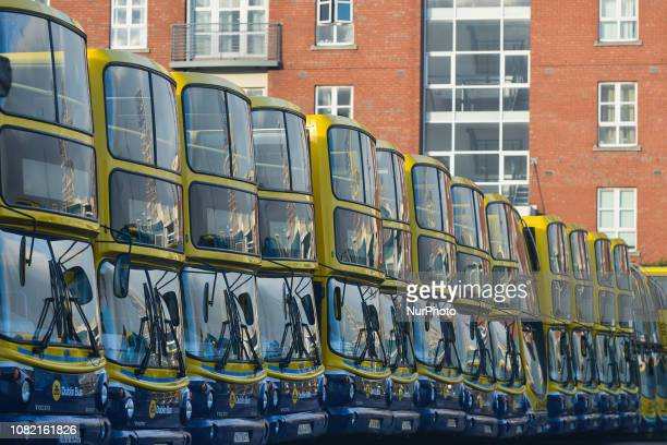 A view of Ringsend Dublin Bus depot in Dublin In two days a historic vote on Prime Minister Theresa May's Brexit deal will take place in London...