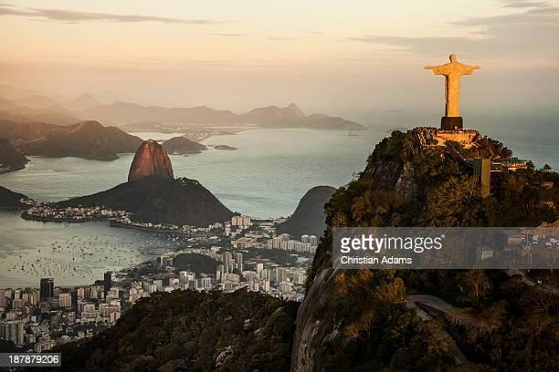 View of Rio de Janeiro at sunset