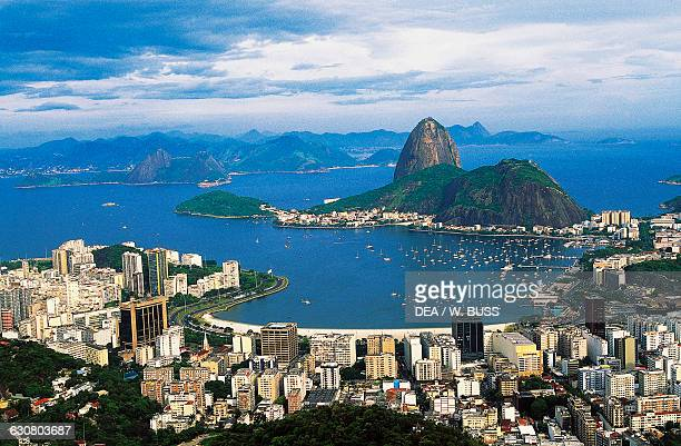 View of Rio de Janerio and the Sugar Loaf 395 m Brazil
