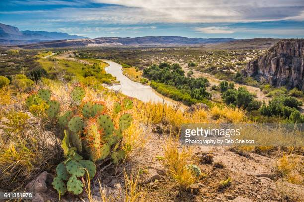 view of rio grande from castelon - texas stock pictures, royalty-free photos & images