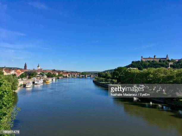 View Of River Against Blue Sky