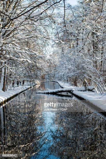 View of river in Munich, Germany