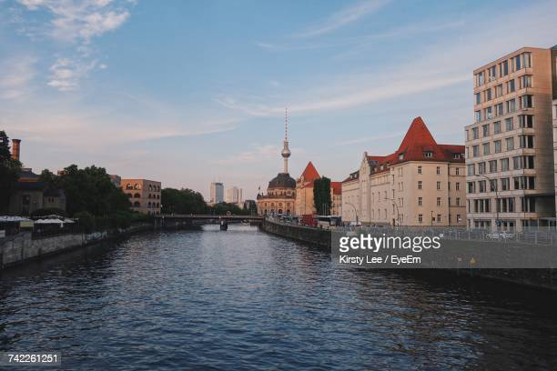 View Of River Spree And Television Tower In Berlin, Germany