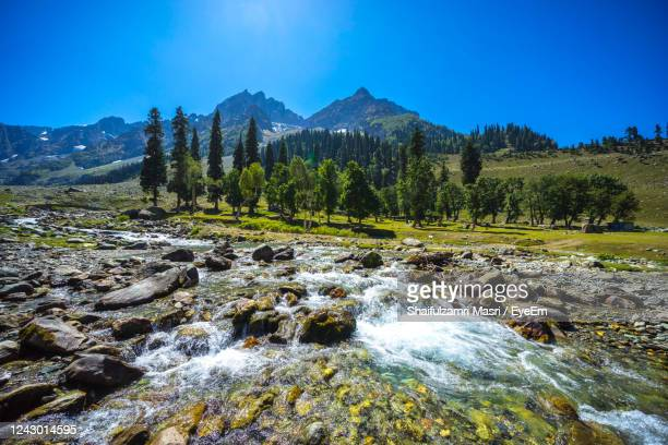 view of river stream from himalaya mountains at sonamarg valley of kashmir, india. - shaifulzamri eyeem stock pictures, royalty-free photos & images