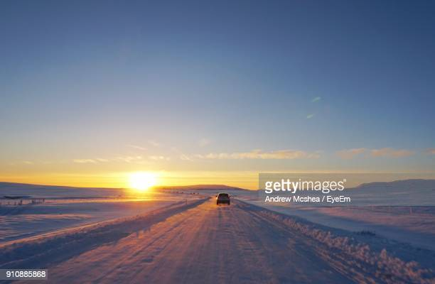 View Of Road On Snow Covered Landscape
