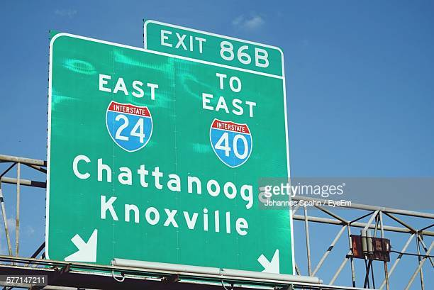 view of road sign - chattanooga stock pictures, royalty-free photos & images