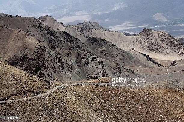 View of road way in Leh, Ladakh, India