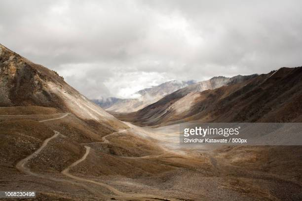 View of roads in mountains