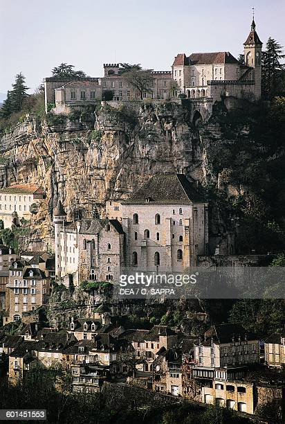 View of Rocamadour, Midi-Pyrenees, France.