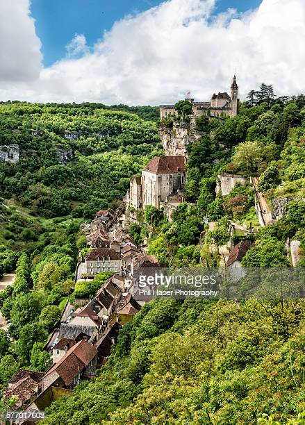 view of rocamadour - rocamadour stock pictures, royalty-free photos & images