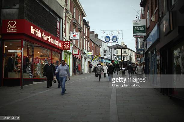A view of Rochdale high street where the recession has hit businesses hard on November 28 2011 in Rochdale England Global fast food chain MacDonald's...