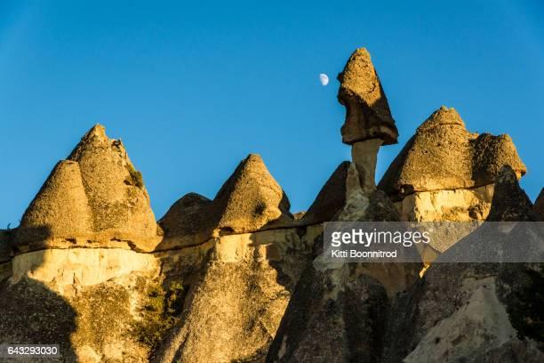 View of rock formation in Cappadocia, Turkey