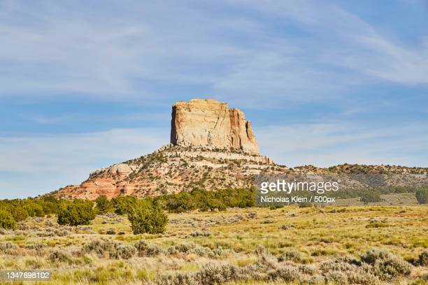 view of rock formations on landscape against sky - klein stock pictures, royalty-free photos & images
