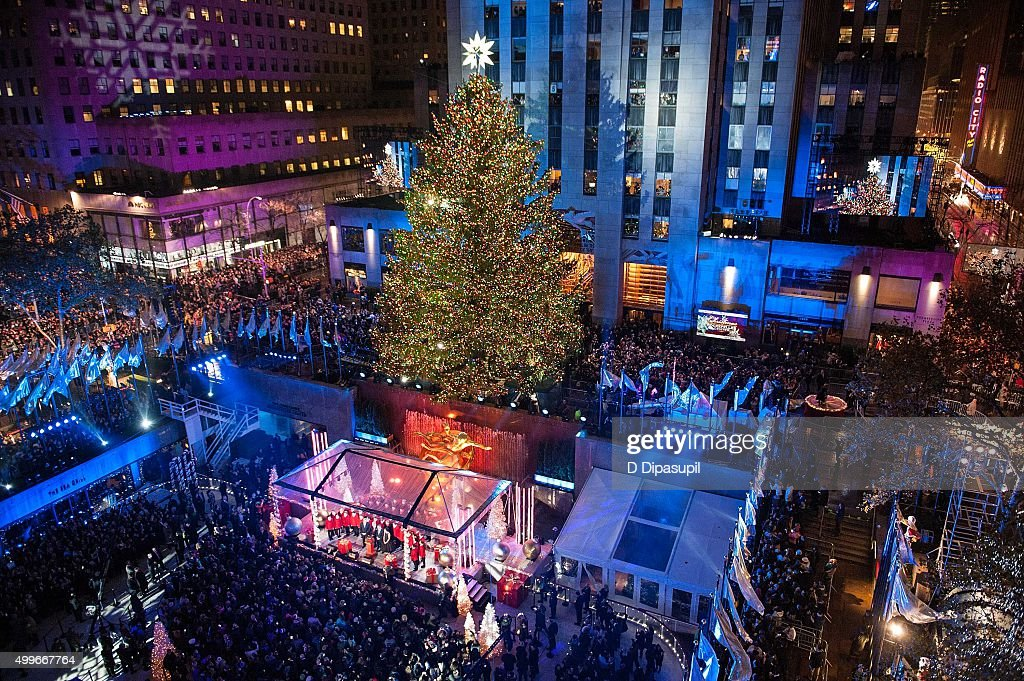A view of Rockefeller Center Tree moments after lighting during the 83rd Rockefeller Center Tree Lighting & 83rd Rockefeller Center Tree Lighting 2015 Photos and Images | Getty ...