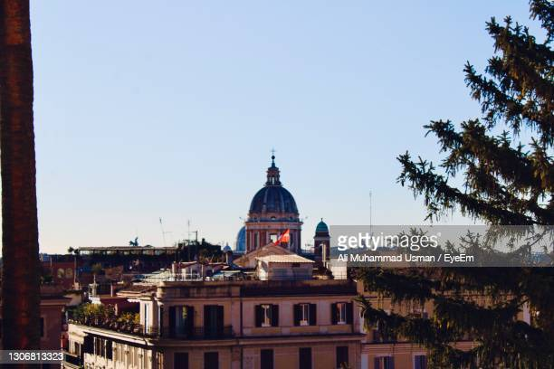 view of rome city center dome of a church in vatican city - muhammad ali center stock pictures, royalty-free photos & images