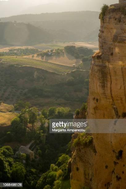 View of Ronda's landscape from above the Puente Viejo bridge