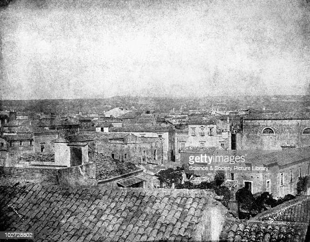 View of rooftops Catania Sicily Italy 1846 View of rooftops Catania Sicily Italy 1846 Calotype by Reverend George Wilson Bridges Bridges went to...