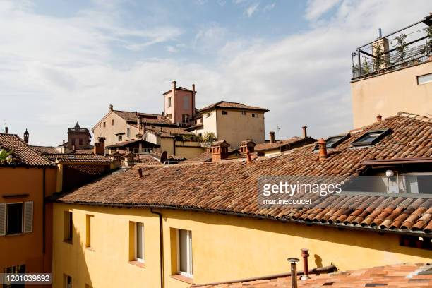 """view of rooftops in bologna, italy. - """"martine doucet"""" or martinedoucet stock pictures, royalty-free photos & images"""