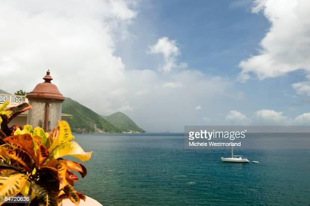 view of roseau, dominica, caribbean - dominica fotografías e imágenes de stock