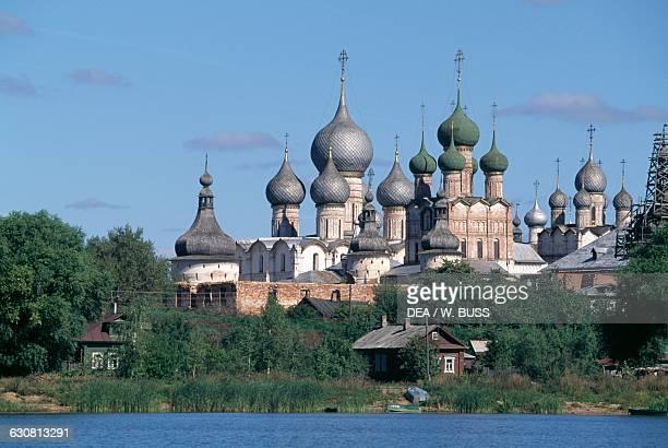 View of Rostov Kremlin on the Lake Nero 16701683 RostovVeliky Russia 17th century