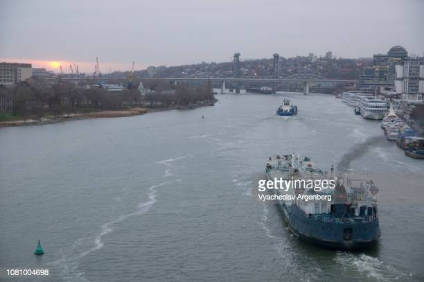 a view of rostov-on-don and don river, russia - rostov on don stock pictures, royalty-free photos & images