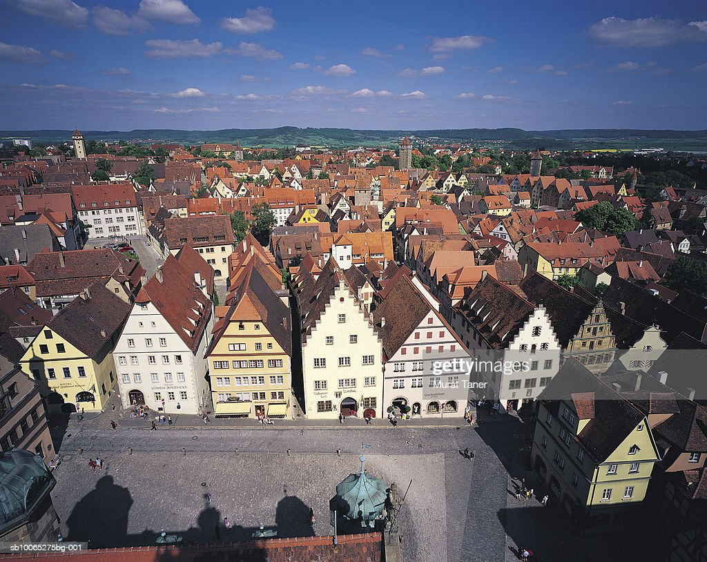 View of Rothenburg, elevated view : Foto stock