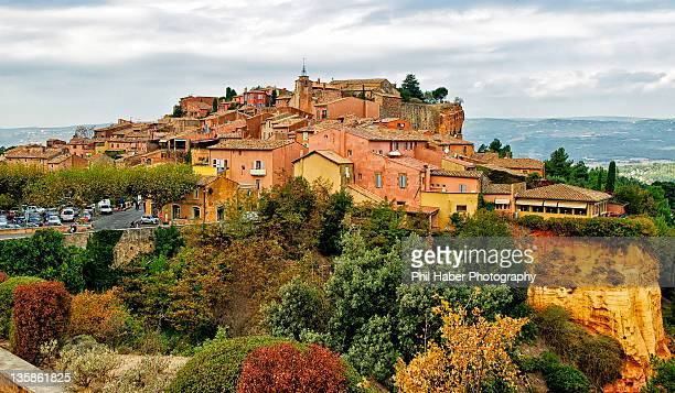 view of roussillon - phil haber stock pictures, royalty-free photos & images