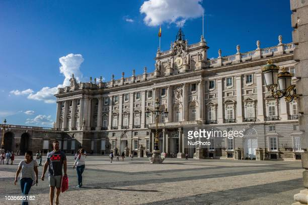 A view of Royal Palace of Madrid in Madrid Spain on September 17 2018