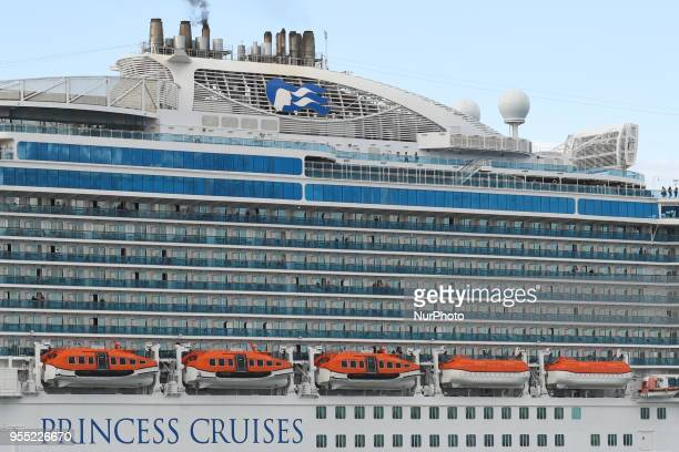A view of MS Royal Princess living Dublin a cruise ship operated by Princess Cruises and the third ship to sail for the cruise line under that name...