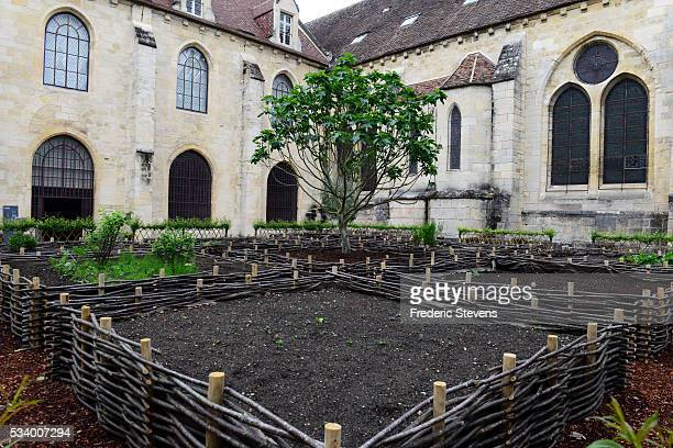 A view of Royaumont abbey medieval garden on May 24 2016 in AsnieresSurOise France The Royaumont foundation is undertaking extensive construction...