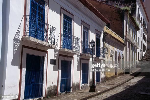 View of Rua do Giz, Historic Centre of Sao Luis , Maranhao, Brazil.