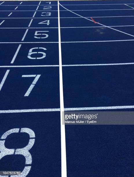 view of running tracks - olympiastadion berlin stock pictures, royalty-free photos & images
