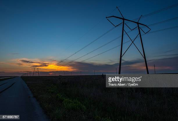 view of rural area at sunset - coral springs stock pictures, royalty-free photos & images