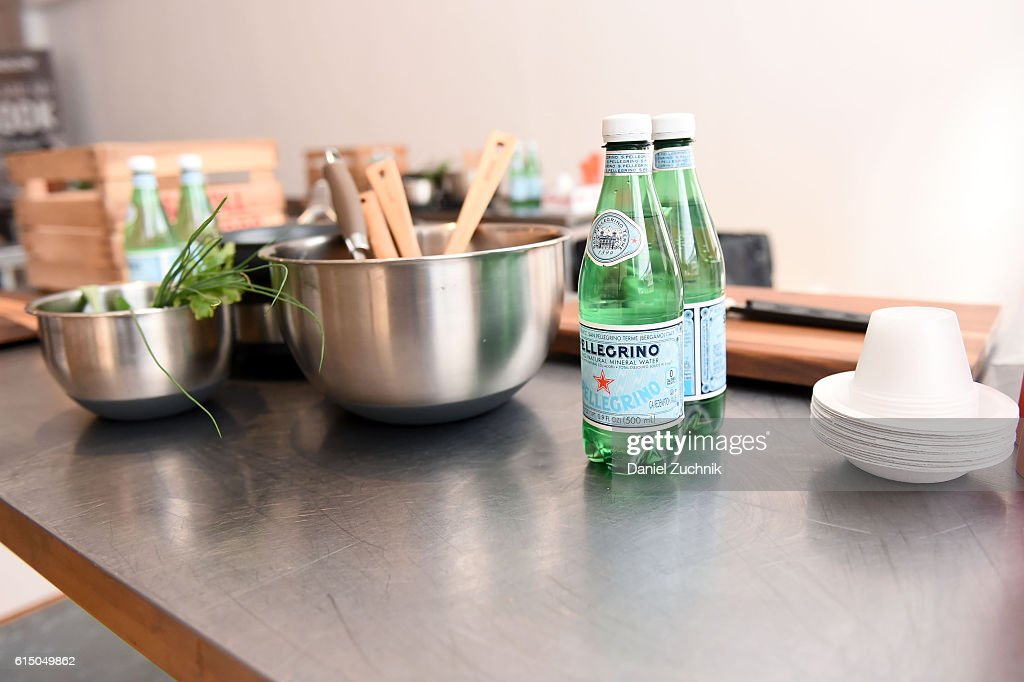 A view of S  Pellegrino Sparkling Water during Farm Fresh